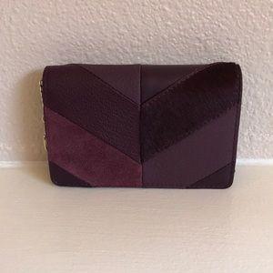 kate spade deep plum keychain wallet